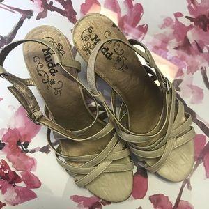 Mudd Strappy Block Stacked Heel shoe